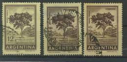 VEND TIMBRES D ´ ARGENTINE , N° 606B X 3 NUANCES DIFFERENTES !!!! - Argentina