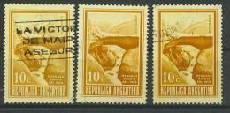 VEND TIMBRES D ´ ARGENTINE , N° 886 X 3 NUANCES DIFFERENTES !!!! - Usati
