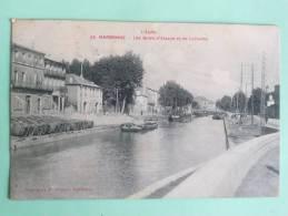 NARBONNE - Péniches Sur Les Quais D'ALSACE Et De LORRAINE - Narbonne