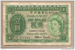 Hong Kong - Banconota Circolata Da 1 Dollaro - 1958 - Hong Kong