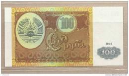 Tagikistan - Banconota Non Circolata Da 100 Rubli - 1994 - Tagikistan