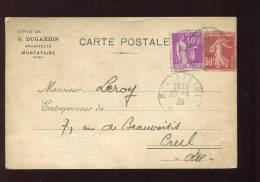 CPA Correspondance Architecte DUGARDIN  2 Scans - France