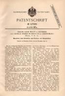 Original Patentschrift - M. Welty In Hunker Und Greensburg , Penns., USA , 1899 , Maschine Zum Schleifen Von Glas !!! - Tools