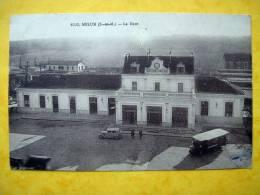 Cpa 77 MELUN  La Gare Timbre Exposition Coloniale De Paris 1931 - Melun