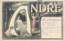 PRENOM ANDRE DECOR ART NOUVEAU FEMMES - Nombres