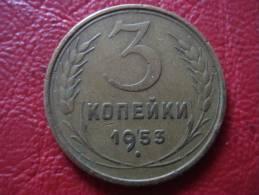 Russia  3 Kopeek 1953 Year - XF - Russie