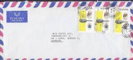 ## Kenya Airmail Par Avion NAIROBI 1980 Cover Brief To ODENSE Denmark Visit Of Pope Pabst John Paul II. - Kenia (1963-...)
