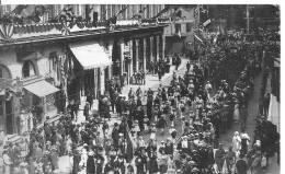 CPA CARTE PHOTO  14 JUILLET  1919 EN ALSACE  Très Animée - Autres