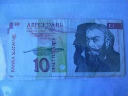 Billete Eslovenia. 10 Tolarjev. 1992. - Slovénie