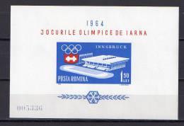 Romania 1963 Olympic Games Innsbruck S/s MNH - Winter 1964: Innsbruck
