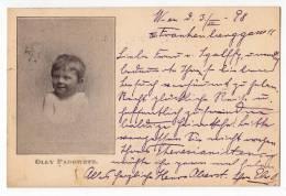 ROYAL FAMILIES CHILD OLLY PADOWETZ OLD POSTCARD 1898. - Royal Families
