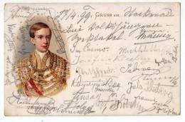 "ROYAL FAMILIES LITHOGRAPHY ""VIRIBUS UNITIS!"" OLD POSTCARD 1899. - Royal Families"