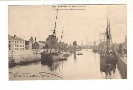 QUIMPER - Le Port Vu En Aval - Les Manufactures De Faïence Bretonne ( Carte Précurseur ) - Quimper