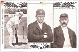 "CPA - Cricket Sport - Clem Hill, M A. Noble, J. Darling  - ""Captain"" - Cartoline"