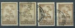VEND TIMBRES D ´ ARGENTINE , N° 604A X 4 NUANCES DIFFERENTES !!!! - Argentina