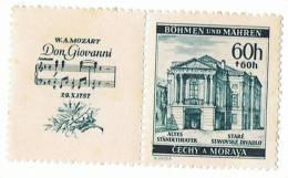 1941 - Bohème Et Moravie - MOZART - 150 ème Anniversaire Mort - Occupation Allemande  - Yvert Et Tellier 70 - Neuf - Bohême & Moravie