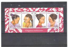 Mayotte  --  N° 241/4 **  Coiffures Mayoraises - Non Classés