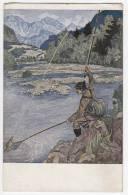 SPORTS FISHING SERIE XXIV Nr. 4 OLD POSTCARD - Fishing