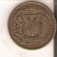MONEDA DE PLATA DE LA REP. DOMINICANA DE 5 CENTAVOS DEL AÑO 1944  (COIN) SILVER,ARGENT - Dominicaine