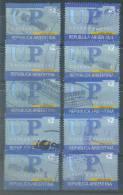 VEND TIMBRES D ´ ARGENTINE , N° 2310F X 10 NUANCES DIFFERENTES !!!! - Oblitérés