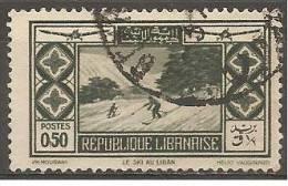 PA49 Oblitéré Du Grand Liban  Surtaxe Au Profit De La Société D'encouragement Du Tourisme Au Liban    Année 1936 - Unclassified