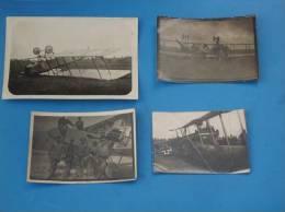4 Photos Originales Avion De Guerre WW1 Militaire Voir Legende Au Dos(Avion Foker Allemand) - Aviation