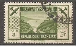 PA52 Oblitéré Du Grand Liban  Surtaxe Au Profit De La Société D´encouragement Du Tourisme Au Liban    Année 1936 - Unclassified