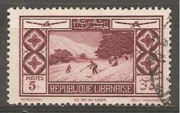 PA53 Oblitéré Du Grand Liban  Surtaxe Au Profit De La Société D´encouragement Du Tourisme Au Liban    Année 1936 - Unclassified