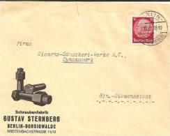 W-077a / Hindenburg 15 Pfg. (ohne Wz.) 1932. Sehr Seltene Frankatur, Ortsbrief, Berlin, Firmencouvert! - Deutschland