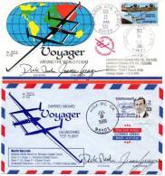 1986 USA VOYAGER FLIGHT COVERS GIRO INTORNO AL MONDO  BOLAFFI - Lettres & Documents