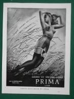 PUBLICITE PAPIER ORIGINALE - 1950 - LINGERIE PRIMA A LYON - GAINE EN DENTELLASTEX - Reclame