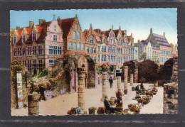 32560      Belgio,   Ypres  -  Ruines  Des  Halles,  VG  1948 - Ieper