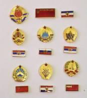 FLAG & COAT OF ARMS - YUGOSLAVIA SERBIA MONTENEGRO SLOVENIA BOSNIA MACEDONIA CROATIA - BLASON DRAPEAU + FLAG SKJ PARTY - Villes