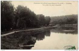 77-LUZANCY-Vue Prise Cu Pont Suspendu- - France