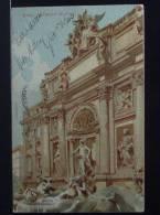ROMA Fontana Di Trevi - Viaggiata Nel 1906 Formato Piccolo Retro Indiviso - Fontana Di Trevi