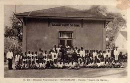 """N.29 MISSÕES FRANCISCANAS -INHAMBANE-ESCOLA """" VASCO DA GAMA""""  ( CANTO REDONDO) - Mozambique"""