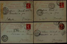 1908-09 ENTIER POSTAL (5x) Typer Mouchon De Lille Et Tourcoing Vers USINES NOACK´S (charcuterie) GRONINGEN - ZWANENBERG - Lots Et Collections : Entiers Et PAP