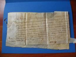 1727 - 2 Main-levées Du Parlement De Bordeaux Concernant Une Amende Infligée à L´évêque D´Aire Par Les Offices Du Pape - Décrets & Lois