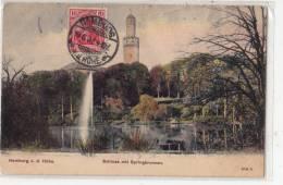 BR37579 Homburg V D Hohe Schloss Mit Springbrunnen    2 Scans - Saarpfalz-Kreis