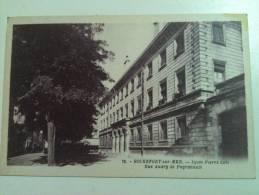 """Cpa  ROCHEFORT  """"  Lycée Pierre Loti  Rue Audry De Puyravault""""  Port  0.50 Euro - Rochefort"""