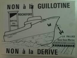 """Cpa  ROCHEFORT  """"  Inter Syndicale Des Personnels De L'hopital Des Armées """"  Port  0.50 Euro - Rochefort"""
