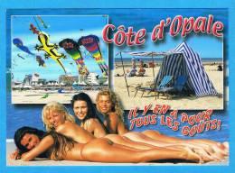 CPM Cote D'Opale Il Y En A Pour Tous Les Gouts Jeunes Femmes Seins Nus Fesses Nus Bord De Mer Breasts Nude Cerfs Volants - Fine Nudes (adults < 1960)
