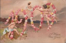 1909 / Bonne Année / Relief (réf. 92cp) - Nieuwjaar