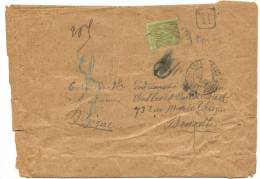 """Lettre Lourde Vers Bruxelles 1902 Affranchie 20 + 10 + 10 Paix Et Commerce Annotations Et Marque """"R"""" 1902 - Storia Postale"""