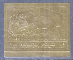 Sharjah 526b  **  MEXICO  OLYMPICS  GOLD FOIL - Sharjah