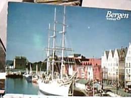 NORGE  BERGEN BRYGGEN PORTO NAVE SHIP VELA VELIERO STSTSRAAD  LEHMKUHL VB1998 DZ6952 - Norvegia