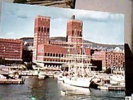 NORGE  NORVEGIA OSLO PORTO NAVE SHIP VELA VELIERO RADHUSET N1990 DZ6955 - Norvegia