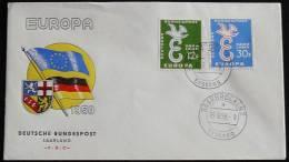 SAAR SARRE SAARLAND 1958 MI-NR. 439/40 CEPT FDC (111) - Europa-CEPT