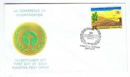 PAKISTAN FDC Cactus  - Désertification- 1977
