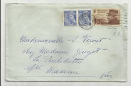 1940 - ENVELOPPE AU DEPART D' AVIGNON (VAUCLUSE) Pour SAINT MAXIME (VAR) - MERCURE - France